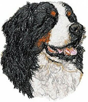 Large Embroidered Zippered Tote - Bernese Mountain Dog AED14847
