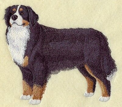 Large Embroidered Zippered Tote - Bernese Mountain Dog C9616