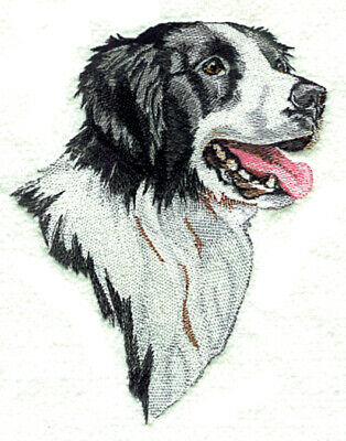 Large Embroidered Zippered Tote - Border Collie BT2490