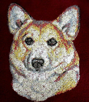 Large Embroidered Zippered Tote - Pembroke Welsh Corgi AED14479