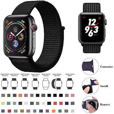 Replacement Woven Nylon Strap Band for Apple Watch Series 2 3 4 5 38/42/44/44mm