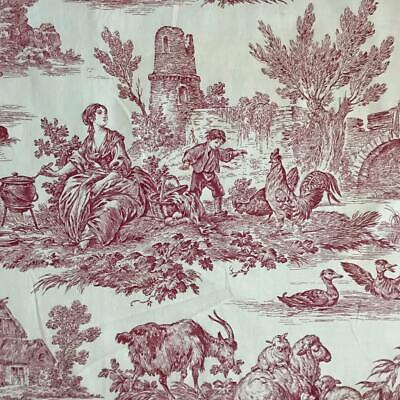 BEAUTIFUL VINTAGE FRENCH TOILE DE JOUY c1980s, REF PROJECTS 47
