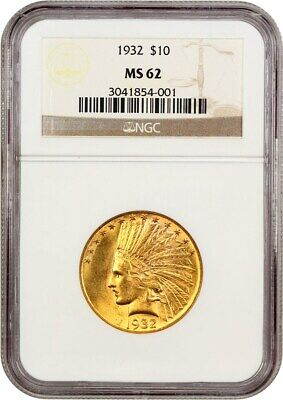 1932 $10 NGC MS62 - Lovely Type Coin - Indian Eagle - Gold Coin