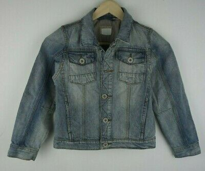 Girls` New Ex-Store Denim Jacket Age 7 in Light Blue