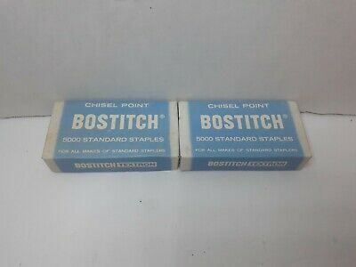 Vintage Bostitch Chisel Point Staples Lot Of 2 5000 Count in Original Box