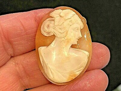 Antique Hand Carved Shell Cameo
