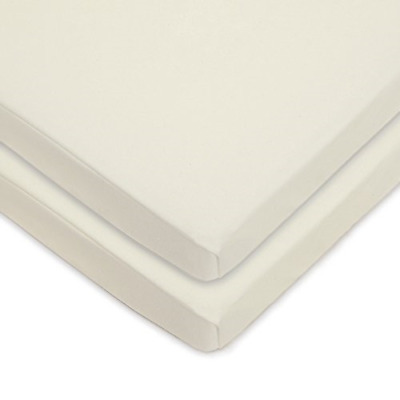 TL Care Twin Pack Knit Fitted Porta/Mini-Crib Sheet Made with Organic Cotton,