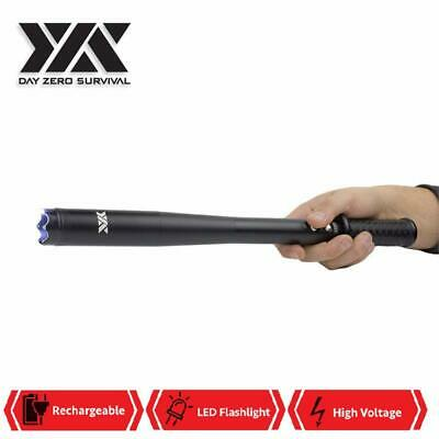 Police Force DZS Tactical 3 In 1 Stungun, Baton, and Flashlight Rechargeable LED