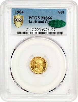 1904 Lewis & Clark G$1 PCGS/CAC MS66 - Key Date Gold Commem - Looks Prooflike!