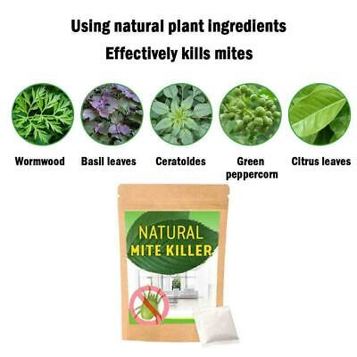 6Pcs/ Dust Mites Killer Mite Eliminator Natural For Bed Pillow Couch Sheet U3S7