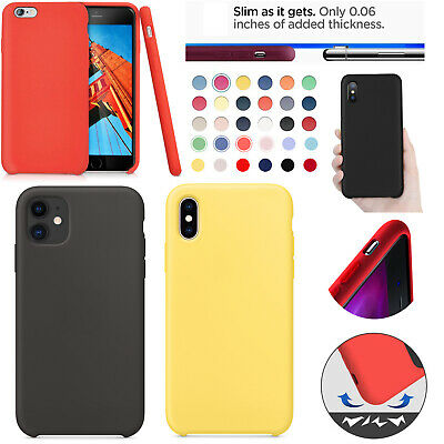 For Apple Silicone Case iPhone 11 X XR XS MAX 8 7 & Plus Slim TPU Soft Rubber UK