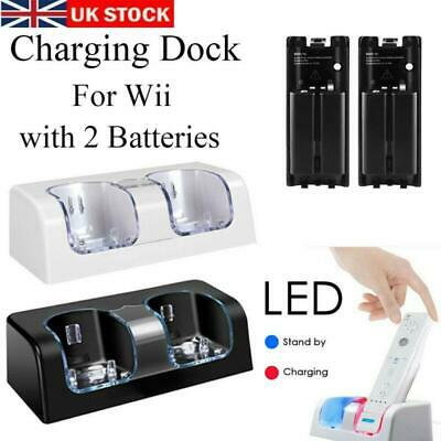 USB Charger Docking Station +2 Batteries  for Nintendo WII Remote Controller