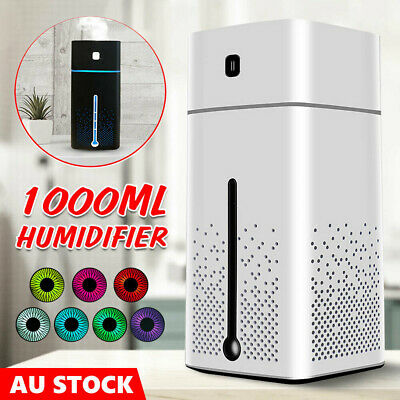 1L Ultrasonic Aromatherapy Diffuser Oil Air Humidifier Essential Purifier USB AU