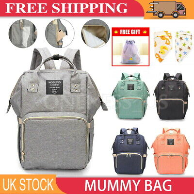 Large Mummy Baby Bag Backpack Diaper Nappy Changing Mat Hospital Mom Travel UK