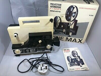 Brevete Cine Max 8 + Super 8 K6 IGC Super Eight Projector
