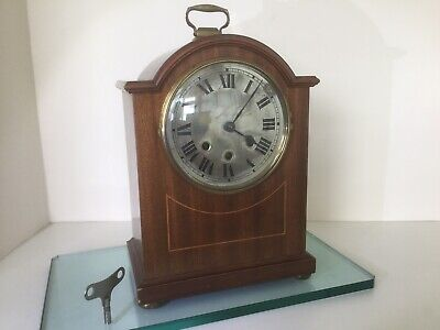Westminster Chiming Bracket / Mantel Clock Fully Serviced With Key