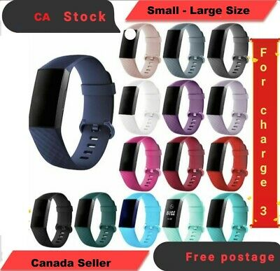For Fitbit Charge 3 Watch Band Replacement Silicone Breathable Wrist Bracelet