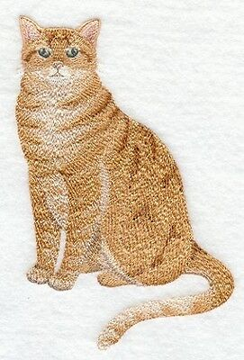 Large Embroidered Zippered Tote - Tabby Cat C7892