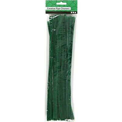 """Pack of 50 12"""" Pipe Cleaners / Chenille Stems - Green"""