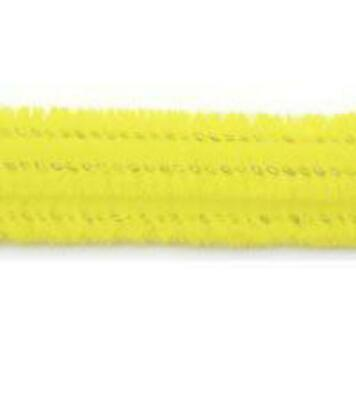 """Pack of 25 12"""" Pipe Cleaners / Chenille Stems - Yellow"""