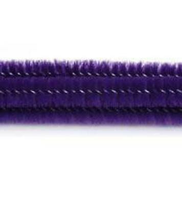 """Pack of 25 12"""" Pipe Cleaners / Chenille Stems - Purple"""
