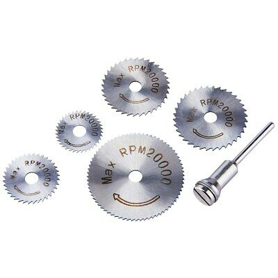 """6pc HSS Saw Discs w/ 3.2mm (1/8"""") Mandrel for Rotary Tool, or Drill"""
