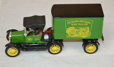 ERTL John Deere 1918 Ford Model T Runabout with Trailer Die Cast Bank