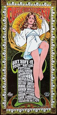 Eric Burdon Classic Rock Stock Rock Poster Hand Signed Masse 1992 Artist's Proof