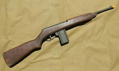 WWII American Home Front, WWII U.S. Army M1 Carbine Hand Made Wooden Toy Gun