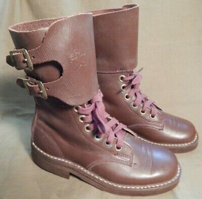 WWII U.S. Army, 2-Buckle Combat Boots, Small Childs Size Miniatures, A+ Cond.