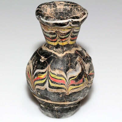 Museum Quality Phoenician Glass Colored Bottle Circa 1000-700 Bc