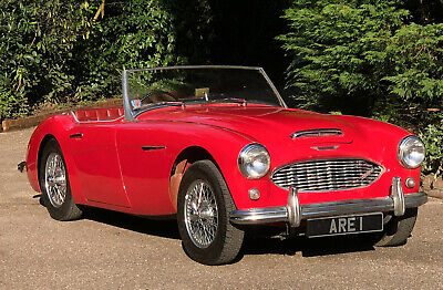 1960 AUSTIN HEALEY  3000 BT7  works hard top & overdrive very low miles 4 seats