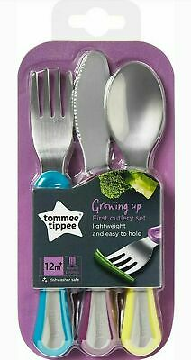 Tommee Tippee Baby Cutlery Newborn Toddler Child 1st Grown Up Set 3Pk 12m+