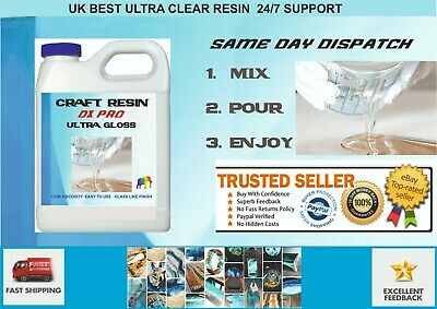 Epoxy Resin Crystal Clear 1 kilo Low Viscosity UV Resistant ultra clear