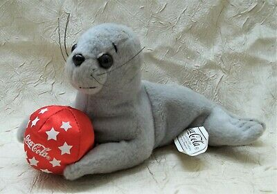 Coca Cola Seal with Ball Plush Toy