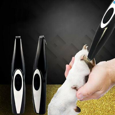 Pro Cordless Pet Hair Trimmer Dog Cat Paw Clippers Grooming Kit USB Rechargeable