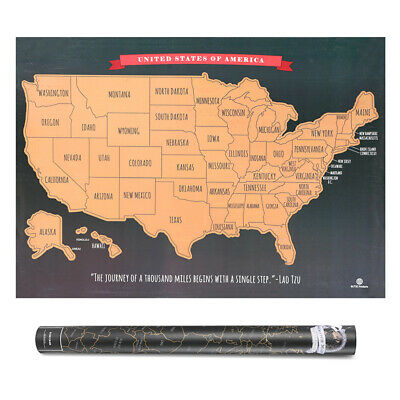 Scratch Off Map United States - USA Scratch Travel Map- US Landmarks Adventures