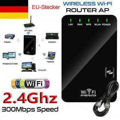 Mini WLAN Repeater Router Range Extender Wireless Signal Verstärker Booster Wifi