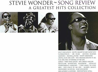 Stevie Wonder Song Review-Greatest Hits CD NEW SEALED Happy Birthday/Sir Duke+