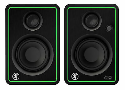 "(2) Mackie CR3-X 3"" 50w Creative Reference Multimedia Studio Monitors Speakers"