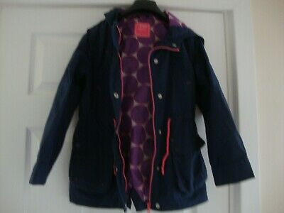 NEXT Girls Age 9-10 Years Navy Hooded Smart Casual School Jacket Coat