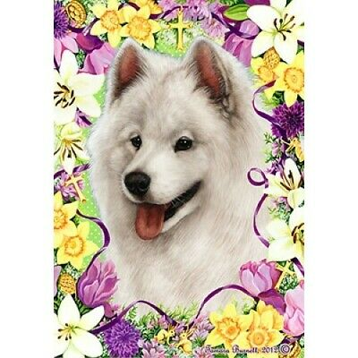 Easter House Flag - Samoyed 33077