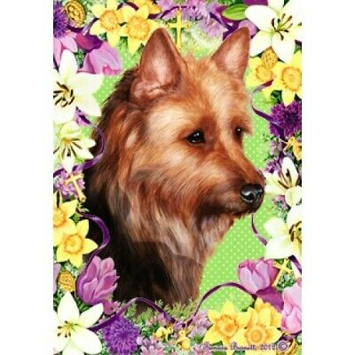 Easter House Flag - Australian Terrier 33203