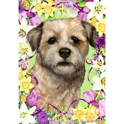 Easter House Flag - Border Terrier 33122