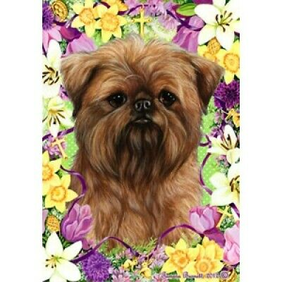 Easter House Flag - Brussels Griffon 33128