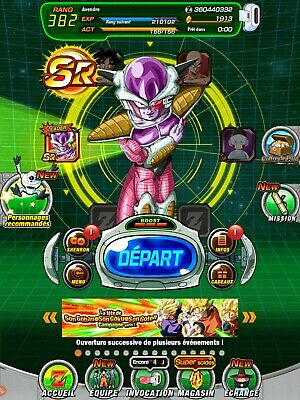 compte dokkan battle glo 2000 DS android