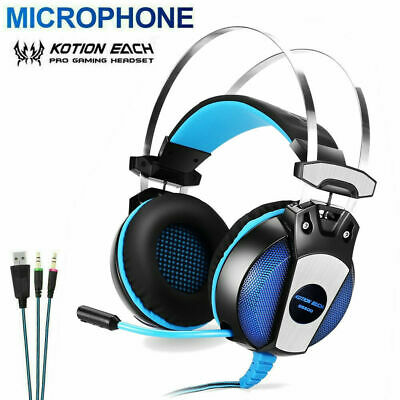 3.5mm Gaming Headset with Mic LED Headphones Surround For PC Laptop PS4 Xbox One