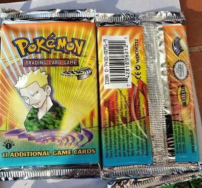UNWEIGHED, Pokemon Fossil 1st Edition Booster Pack 1 de l/'usine boîte scellée