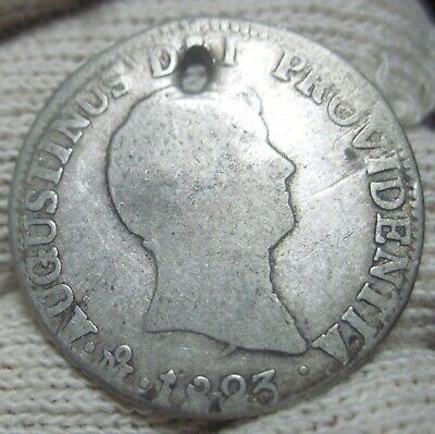 1823 JM (MEXICO) 2 REALES (ITURBIDE) VERY SCARCE YEAR ---2 year type --