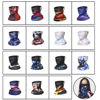 Outdoor Unisex Biker Cycling Neck Tube Scarf Snood Face Cover Warmer Bandana Lot